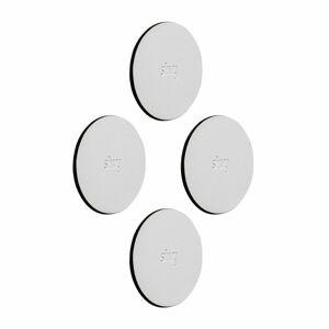 Silwy podložka na magnetické háčky 6,5 cm, 4 ks Bílá