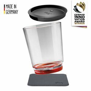 Silwy magnetická sklenice Triple // Tritan Červená