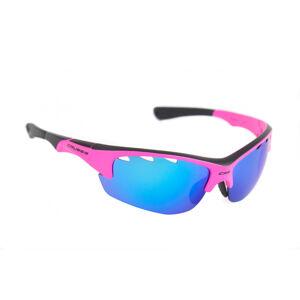 Brýle Crussis růžové neon s modrými zrcadlo skly