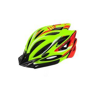 Cyklistická přilba CRUSSIS žlutá neon - oranžová neon S/M vel.55-59
